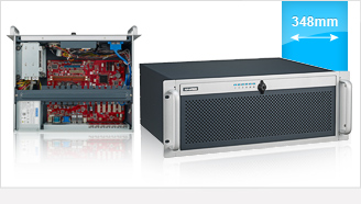 Compact 4U Rackmount Chassis for Half-size SBC or ATX/MicroATX Motherboard